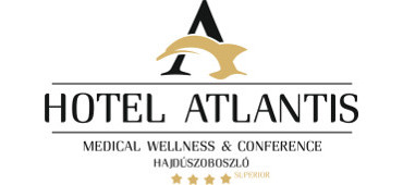 Hotel Atlantis**** Hajdúszoboszló logo színes